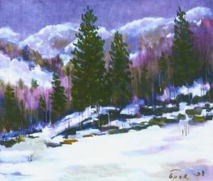 Зимовий пейзаж Березнянщини, 1994, 60x70