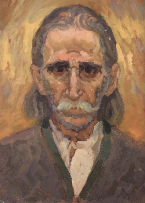 Peasant's Head, 1963, oil on cardboard, 40x31