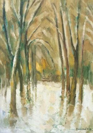 Winter Alley, 1998, oil on canvas, 55x40