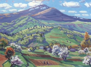 Day In Blue. Mount Pikuy, 2006, oil on canvas, 65x88