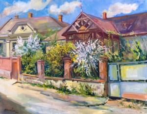 Весна в Ужгородi, 2000, п.о. 75х90