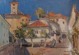 Z. Sholtes 'Mukachevo Castle Yard', 1964