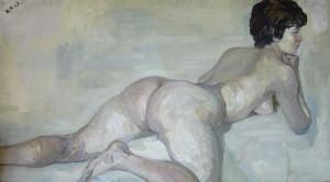 Nude, 1967, sololit, oil, 70x120