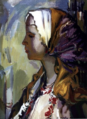Girl In Profile, 2007, oil on canvas, 52x42