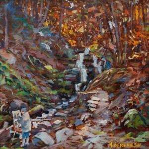 A. Sekeresh Shypit Waterfall', 2011, oil on canvas, 45x45