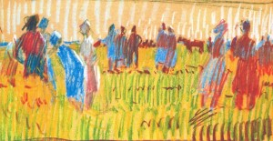 Hot Day, 1971, pastel on paper, 29х41
