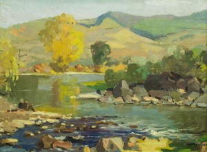 Valley Of The Latorytsia River, the 1960s, oil on canvas, 60x80