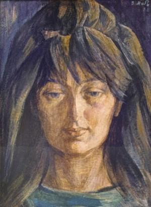 Портрет молодої жінки, 1988, к.т. 58х42
