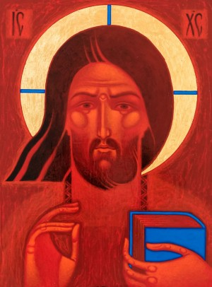 S. Vladyk The Saviour', board, levkas, acrylic, gold, 50x37