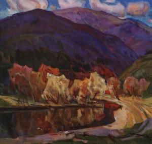 Гора в Чорноголові, 1986, п.о. 80х85