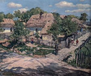 Street In Horiany Village, 1946, oil on canvas, 99,5х69