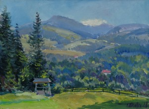 S. Sholtes Transylvanian Mountains', 2018, oil on canvas, 60x80