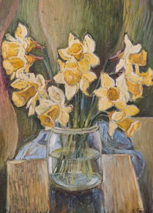V. Haidar Irises', oil on canvas, 45x60