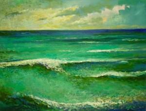 Green Sea', 2011, 60x80