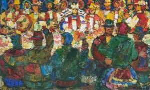 Many Happy Returns, tempera on canvas, 1990, 60х95