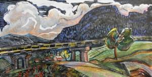Міст, 1984, пап., зміш. техн., 18х30