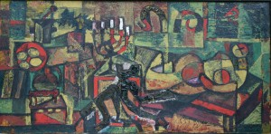 Hutsul Still Life, from the photo archive of Y. Nebesnyk, 1960s, oil on canvas, 90x170