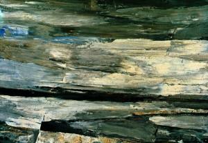 Winter On The Seashore', 1973, cardboard, oil on tempera, 49,5х70