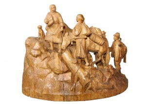 To Polonyna In Spring, 1956, wood, round sculpture