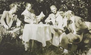 In the Erdeli's garden. Manailo, Erdeli, Kotska, Petki, and Bokshai