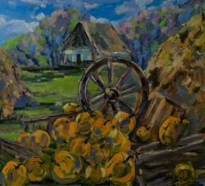 'Rural Motif', 2018, 100x90
