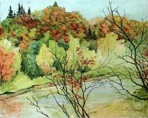 'Scenery Of Nevytskyi Castle', 2000, oil on cardboard, 41,5х33