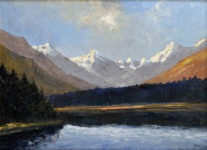 'A View Of The Lake In The Tatra Mountains', the 1930s, oil on canvas, 64x82.jpg