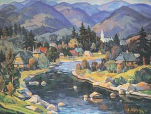 My Village, 1998, oil on canvas, 66x90