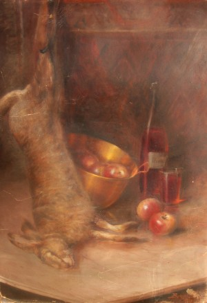 Hunting Still Life, 1927, oil on cardboard