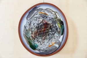 A. Bakotei Nano Grill', 2013, coloured glass, hot-glass glassblowing, H=67