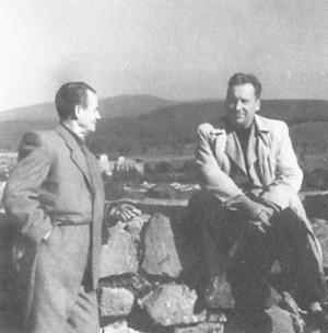 Борецький і Ерделі на замку, Ужгород, 1952