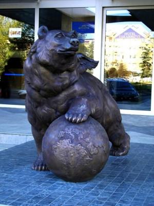 Ведмідь, 2007, бронза, 160х90х65