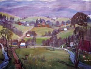 Верховинське село, 2000, п.о., 110х60