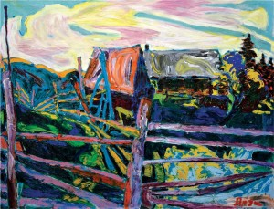 'Fences', 2007, oil on canvas, 100x130