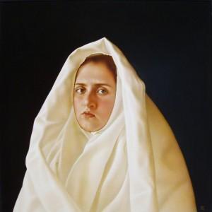 Біле покривало, орг.о.левкас, 52х51
