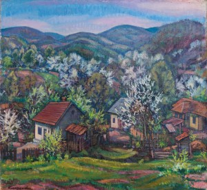 E. Kontratovych  Spring in the village, 1977