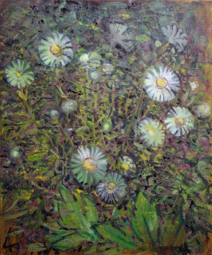 L. Korzh After The Rain. Camomiles', 2015, oil on canvas