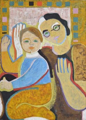 Котков Ернест (1931 – 2012) «Бабуся і внук», 1965