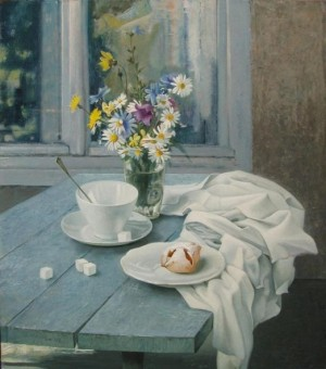 "Breakfast From the series ""Simple things"" oil on masonite, 60,9х53,2"