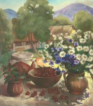 Червень. Вишні, 2006, п.о., 80х90