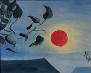 Захід сонця,42х33