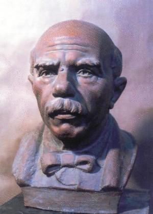 Портрет художника Й. Й. Бокшая,1985, шамот, 51х34х36