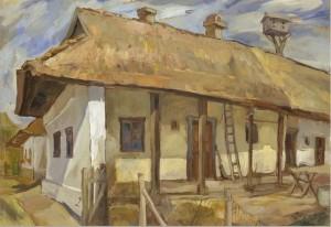 Сільська хата, 1990, п.о., 41x60