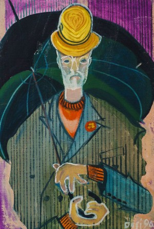 F. Seman, Self portrait with umbrella, 1996