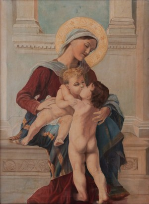 I. Silvai Virgin Mary With Babies', oil on canvas