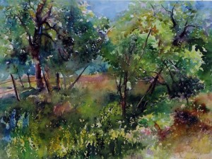 Літо на Гуті, пап., аквар., 45x60