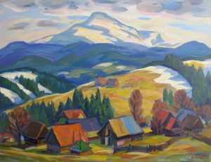 Hoverla Mountain, acrylic on canvas, 61x80