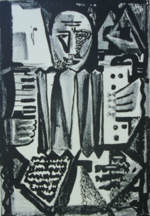 'Graphic Sheet', 1965, linocut on paper, 34x23