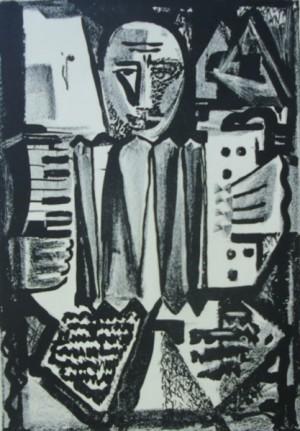 'Графічний лист', 1965, пап.ліногравюра, 34х23