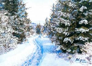 Перший сніг, 1995, к.т., 85х63